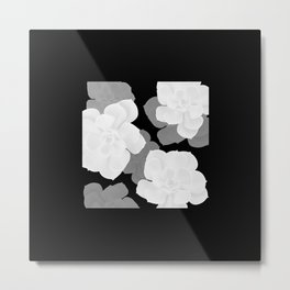 Simply Succulent Black and White #decor #society6 #buyart Metal Print