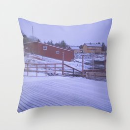 Norway in the cold Throw Pillow