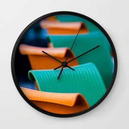 Blue Green and Orange Abstract Wall Clock