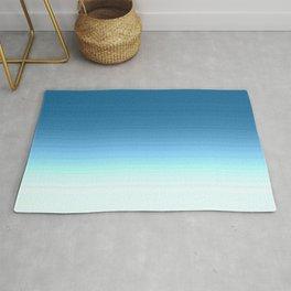 Sea blue Ombre Rug