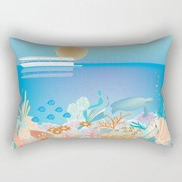 Great Barrier Reef, Australia - Skyline Illustration by Loose Petals Rectangular Pillow