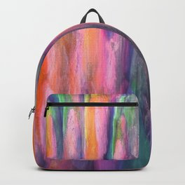 The Cavern in Shades of Peach, Green and Lilac Backpack