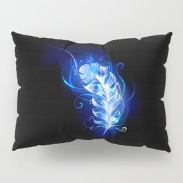 Feather of Blue Fire Pillow Sham