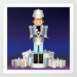 Little Drummer Boy on Christmas Eve Art Print