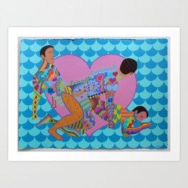 Friends Forever! Art Print