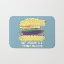 Veggie Burger (blue) Bath Mat