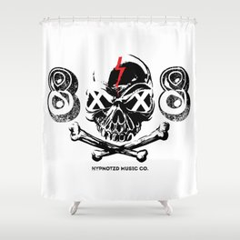 808 Skull Shower Curtain