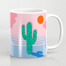 No Foolin - retro throwback neon art design minimal abstract cactus desert palm springs southwest  Coffee Mug