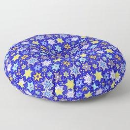 Embellished Stars of David Floor Pillow