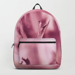 Abstract pink flower details Backpack
