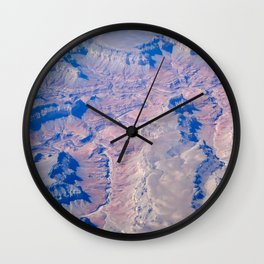 Landscape from Above Wall Clock
