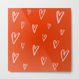 Heart Doodles 2 Metal Print