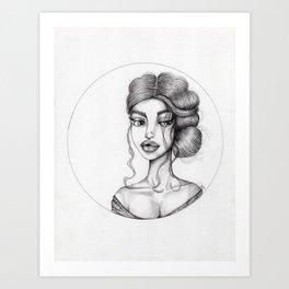 JennyMannoArt Graphite Drawing/Nora Art Print