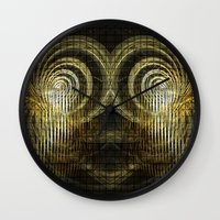 mask Wall Clocks featuring Mask by Armine Nersisian