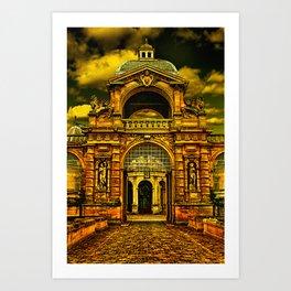 Chateau De Chantilly Castle France Art Print