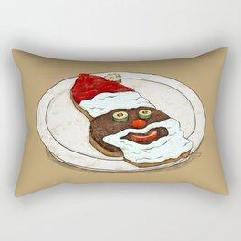Santa Burger Rectangular Pillow