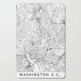Washington D.C. White Map Cutting Board
