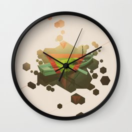 sinking to new heights Wall Clock