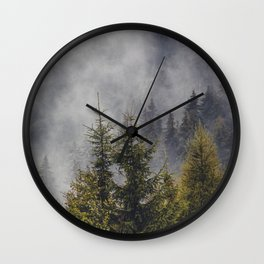 Pine Forest - Pine Trees - Forest - Pine - Trees - Nature. Little sweet moments. Wall Clock