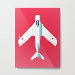 MiG-17 Fresco Jet Aircraft - Crimson Metal Print