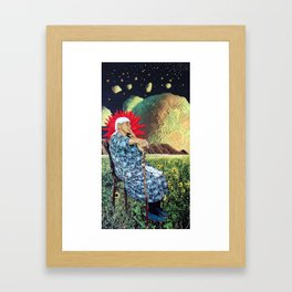 If the World is Ending (Ima Have My One Last Drag) Framed Art Print