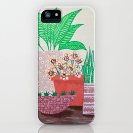 Plants in Printed Pots iPhone Case