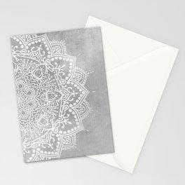 Grey Mandala Stationery Cards