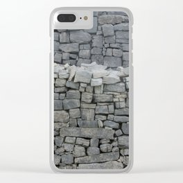 Dry stone wall Clear iPhone Case