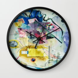 Displacement Glitch-Colorful Abstract Art Wall Clock