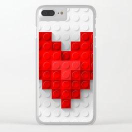 brick heart Clear iPhone Case