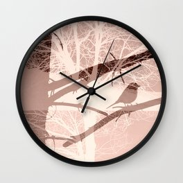 Bird tree Wall Clock