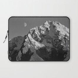 Moon Over Pioneer Peak B&W Laptop Sleeve