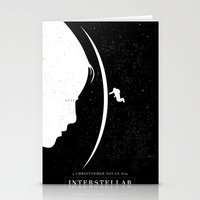 movie poster Stationery Cards featuring Interstellar Movie Poster by Dukesman