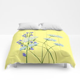 My Kentucky Wild Flowers, Queen Anne Lace and Flax Comforters