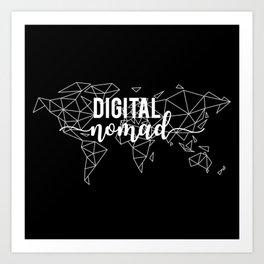 Digital nomad black Art Print