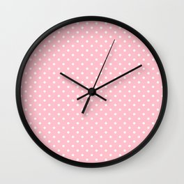 Dots (White/Pink) Wall Clock