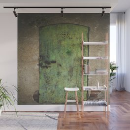 Rusty Green Door Wall Mural