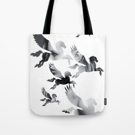 Facing Pegasus Tote Bag