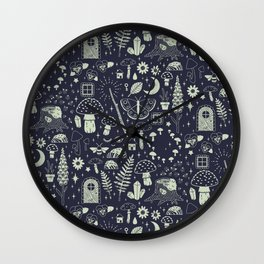 Fairy Garden: Midnight Wall Clock