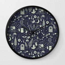 Fairy Garden: Midnight Wall Clock
