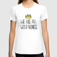 Wild Things Womens Fitted Tee SMALL White