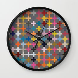 Glaze to Grey Wall Clock