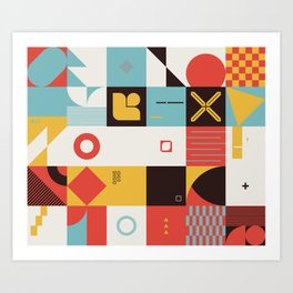 Abstract Geometric Composition 070 Art Print