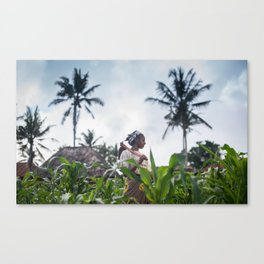 Tending the Field Canvas Print