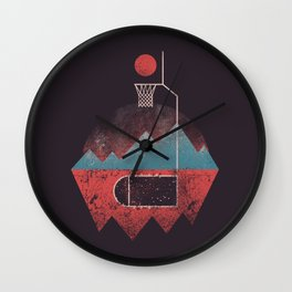 Never Give Up The Hoop Wall Clock