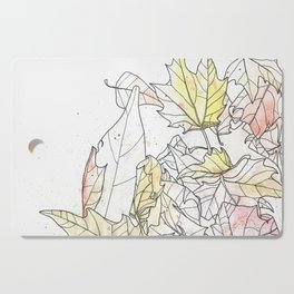 Autumn Leaves Watercolor Cutting Board