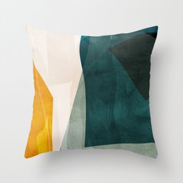 mid century shapes abstract painting 3 Throw Pillow