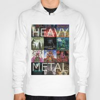 heavy metal Hoodies featuring Heavy Metal by Michael Keene