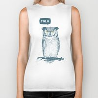 yolo Biker Tanks featuring YOLO by Balazs Solti