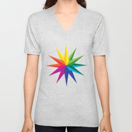 Rainbow Star Unisex V-Neck